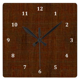 Rustic Bamboo Wood Grain Texture Look Clocks