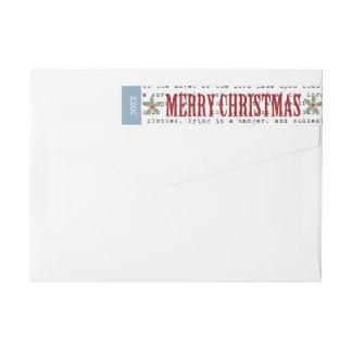 Rustic Banner Christmas Return Address Label Wraparound Return Address Label