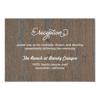 Rustic Bark Reception Card/ Enclosure Card 9 Cm X 13 Cm Invitation Card