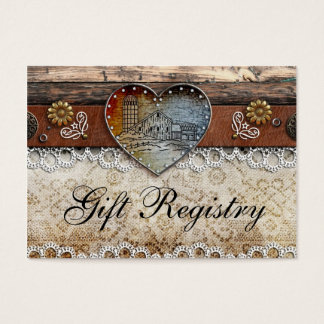 Rustic Barn Country Wedding  Gift Registry