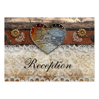 Rustic Barn Country Wedding Reception Cards Large Business Cards (Pack Of 100)