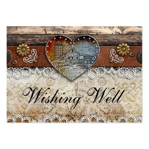 Rustic Barn Country Wedding Wishing Well Cards Business Card Templates