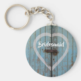 Rustic barn door key ring
