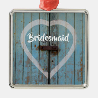 Rustic barn door metal ornament