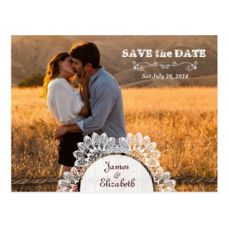 Rustic Barn Save the Date Postcard
