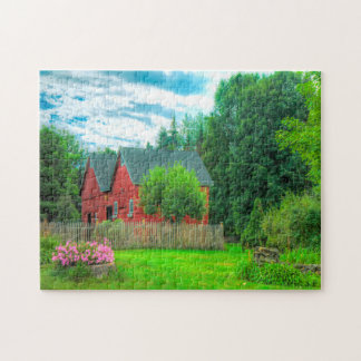 Rustic Barn Vermont. Jigsaw Puzzle