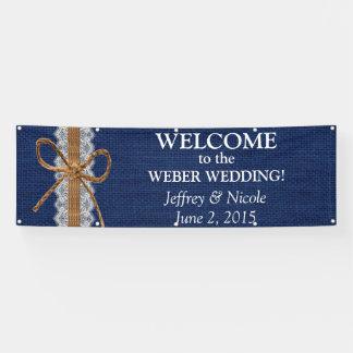 Rustic Barn Wedding Burlap Fall Wedding Banner