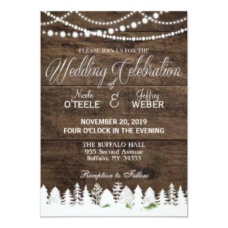 Rustic Barn Wedding Wood Winter Christmas Card