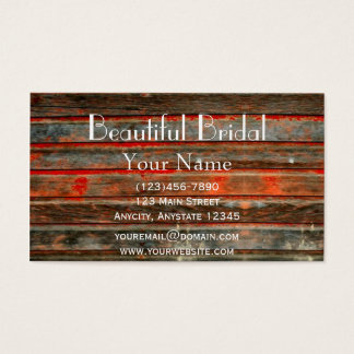 Rustic Barn Wood Business Card