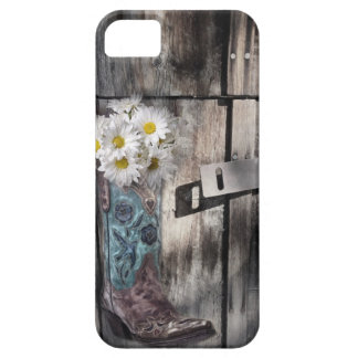 rustic barn wood cowboy boots western country barely there iPhone 5 case