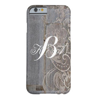 rustic barn wood lace western country monograms barely there iPhone 6 case