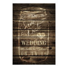Rustic Barn Wood Mason Jar Save the Date Card