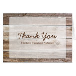 Rustic Barn Wood Thank You Note Card