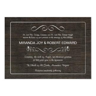 Rustic Barn Wood Vintage Wedding Invitations