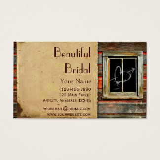 Rustic Barn Wood w/ Graffiti Window Business Card