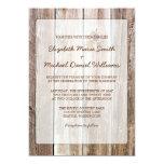 "Rustic Barn Wood Wedding Invitations 5"" X 7"" Invitation Card"