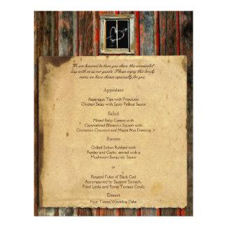 Rustic Barn Wood Wedding Menu 21.5 Cm X 28 Cm Flyer