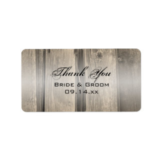 Rustic Barn Wood Wedding Thank You Favor Tag Address Label