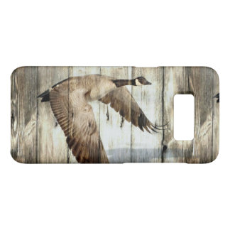 Rustic Barn wood Western Country flying Wild Duck Case-Mate Samsung Galaxy S8 Case