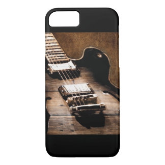 Rustic Barn Wood Western Country Music Guitar iPhone 8/7 Case