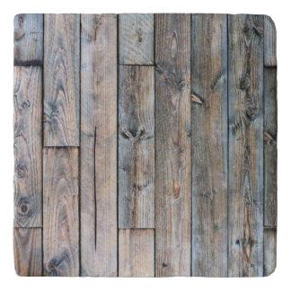 Rustic Barnwood Marble Stone Trivets
