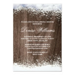 Rustic barnwood snow winter wedding bridal shower