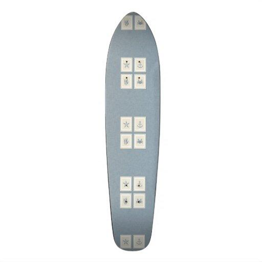 Rustic Beach Decor Custom Skate Board