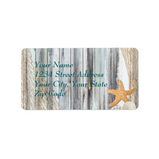 Rustic Beach Starfish Wedding  Avery Label
