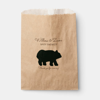 Rustic Bear Party Favor Bags Kraft BEA-100