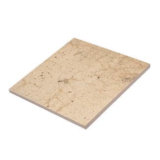 Rustic Beige Textured Grunge Concrete Cracks Photo Ceramic Tile