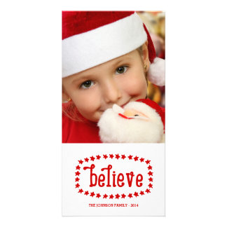 Rustic Believe | Holiday Photo Card