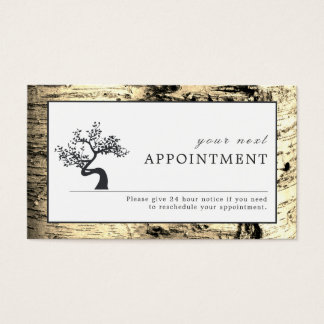 Rustic Birch Tree, Appointment Business Card