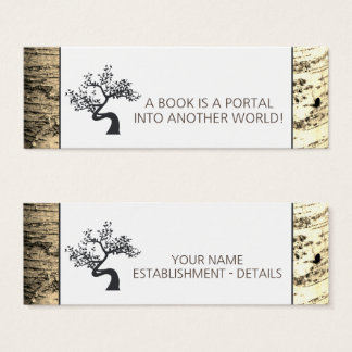 Rustic Birch Tree Bookmark Mini Business Card