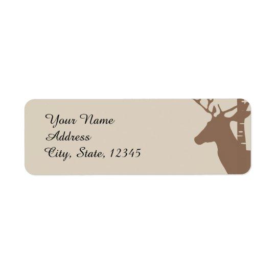 Rustic Birch Trees and Deer Wedding Label