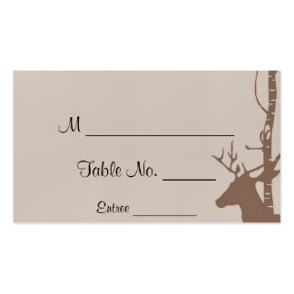 Rustic Birch Trees and Deer Wedding Place Cards Business Cards