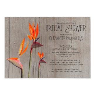 Rustic Bird of Paradise Bridal Shower Invitations