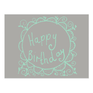 Rustic Birthday Postcard