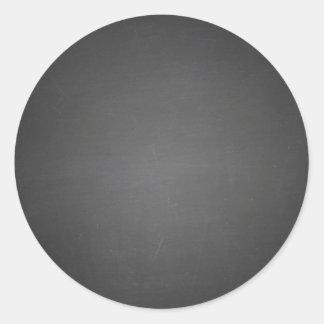 Rustic Black Chalkboard Printed Round Sticker