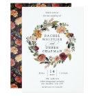 Rustic Bloom   Floral Wreath Wedding Invitation