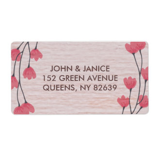 Rustic Blossom Wedding Collection Address Labels