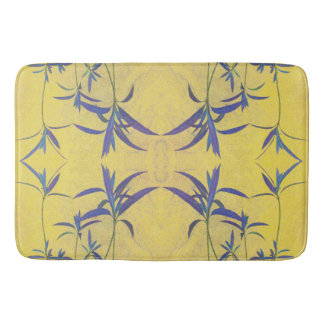 Rustic Blue and Yellow Bath Mats