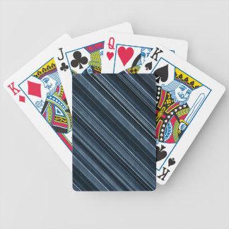 Rustic Blue, Attractive Men's Stripes Pattern Bicycle Playing Cards