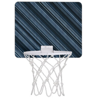 Rustic Blue, Attractive Men's Stripes Pattern Mini Basketball Hoop