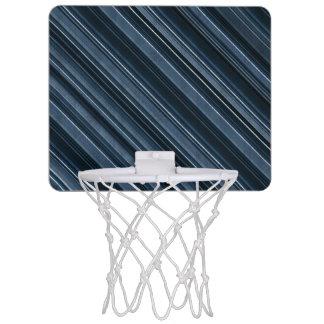 Rustic Blue, Attractive Men's Stripes Pattern Mini Basketball Hoop