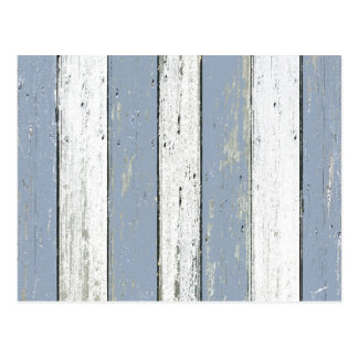 Rustic Blue Driftwood Postcard