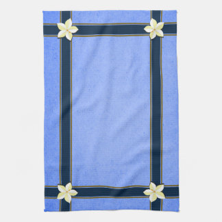 Rustic Blue Floral MoJo Kitchen Tea Towel
