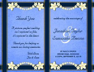 Booklet Flyers Zazzlecomau - Floral wedding program templates