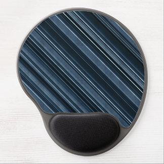 """Rustic Blue"" Stripes Pattern Gel Mouse Pad"