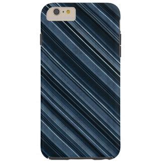 """Rustic Blue"" Stripes Pattern Tough iPhone 6 Plus Case"