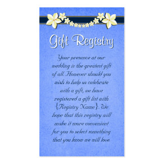 Rustic Blue Wedding Gift Registry Mini Cards Business Card Template